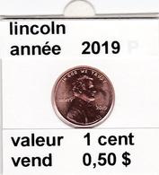 Pieces 1 Cent 2019 Lincoln - EDICIONES FEDERALES