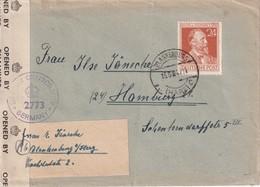 ALLEMAGNE 1947 ZONE AAS LETTRE CENSUREE DE BLANKENBURG - Gemeinschaftsausgaben