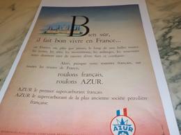 ANCIENNE PUBLICITE ROULONS FRANCAIS ROULONS  AZUR ETE 1958 - Affiches