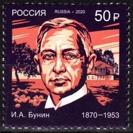 RUSSIA 2020-09 ART Literature: Bunin - 150, Writer. Nobel Prize, MNH - Nobel Prize Laureates