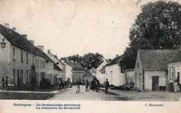 OORDEGEM LEDE DE BRUSSELSCHE STEENWEG HET GULDEN HOOFD HAMME HENRI AMELOOT LOUISE VAN BRUSSEL 1912 - Lede