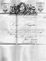 Bel En-tête Sur L.A.C. De MARSEILLE,p.c. 1896 Sur N°14 I,du 5/4/59 Pour PERPIGNAN. - Poststempel (Briefe)