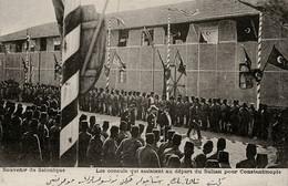 PHOTO : Souvenir De Salonique, Sultan Constantinople, Reproduction; 2 Scans - Personnes