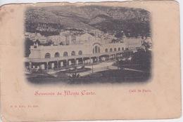 MONACO - SOUVENIR DE  MONTE CARLO - 1900 - - La Condamine