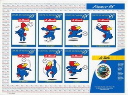"FR Adhesif YT 17A (3140) "" Feuillet Footix, Coupe Du Monde "" 1998 Neuf** - France"
