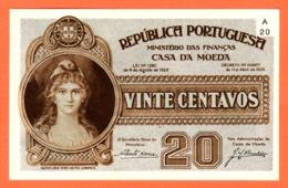 PORTUGAL - Casa Da Moeda 20 Centavos Du 11 04 1925 - Pick 102 UNC - Portugal