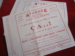"""2 Billets à Prix Réduit/ Théatre Athénée/ """" ça ..! """" / Comédie En 3 Actes / Claude GEVEL/  Vers 1940-1960 ?       TCK151 - Tickets - Vouchers"""