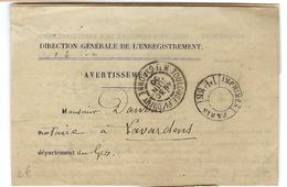 FRANCE: Imprimé En Franchise De Port  De Paris à Lavardens (Gers) Du 30-6-00 - Storia Postale