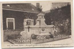 Sainte Jamme - Monument Soldats Mort  Guerre 1914 - 1918   Ed Adol - Autres Communes
