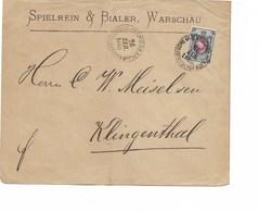 LE 0498. TP RUSSIE 24 S/L. De VARSOVIE 1880 Vers Klingenthal - Lettres & Documents