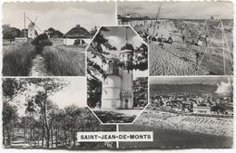 Saint-Jean-de-Monts   5 Photos Sur Carte - Moulin Plage Molen Mill - Saint Jean De Monts