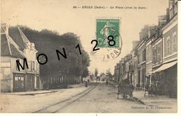 DEOLS (36)  LA PLACE (AVEC LA GARE) - Frankrijk