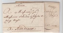 GARD: NIMES, Lenain 7 & 8 / 2 LAC De 1767 TM 16, Et De 1768 TM 17 Pour Bordeaux TB - Storia Postale