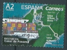 ESPAGNE SPANIEN SPAIN ESPAÑA 2019 ENGINERING INGENIERÍA. CHANEL OF PANAMA USED ED 5284 YV 5020 MI 5315 - 1931-Aujourd'hui: II. République - ....Juan Carlos I