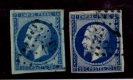 A2D-N°14B Bleu Sur Vert Sans Défaut SUP - 1853-1860 Napoleon III