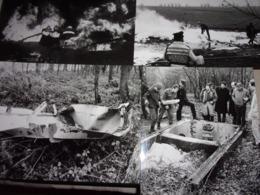 LOT DE 4 PHOTOS ( 24 X13.8 ) ATTENTAT : NIVELLES - BRUXELLES - VERVIERS DU 11 DECEMBRE 1984 - Photos