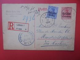 BELGIQUE Vers HOLLANDE Via Aachen 1917 - Postwaardestukken