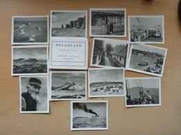 Helgoland Ordner Mit 12 Echte-alte Fotos  Format 7x9cm - Helgoland