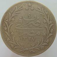 LaZooRo: Egypt 5 Qirsh 1912 VF - Silver - Egipto