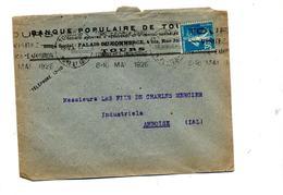 Lettre Flamme Tours Expo Commerce Entete Banque - Mechanical Postmarks (Advertisement)