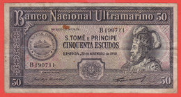 PORTUGAL - Banco Nacional Ultramarino - Saint Thomas And Principe-50 Escudos - Portugal