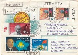 LETTRE KAZAKHSTAN. 1995. RECOMMANDÉ KAMENOGORSH POUR LA FRANCE. GANDHI - Kasachstan