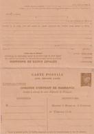 Carte Postale De Service ,acte De Naissance Avec Reponse (petain) Ref Storch D10b Et Yvert 515-cprp3 - Entiers Postaux