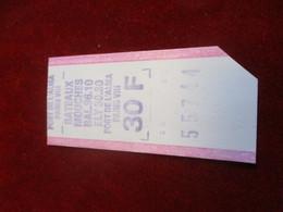 Ticket De Transport/ Bateaux Mouches / Pont De L'Alma/  Paris/  Vers 1980-90    TCK157 - Bateaux
