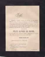 AMBY BERGERSTRAAT MAASTRICHT Félix Alfred De COUNE 1871-1890 Famille SCHOENMAECKERS Et De ROSEN Hasselt - Obituary Notices