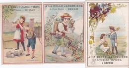 3 CHROMOS -  A LA BELLE JARDINIERE - 2 DINAN, 1 RENNES - Autres