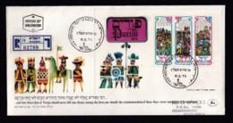 ISRAEL, 1976, Mint FDC, Purim Festival, SGMS631, F4543A - FDC