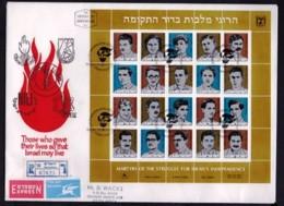ISRAEL, 1982, Mint FDC, Martyrs, SG872-891, F4973 - FDC