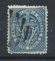 """Colombie Britannique N°6 Obl (FU) 1865 - Couronne Et Lettre """"V"""" - Colombie Britannique Et Ile De Vancouver"""