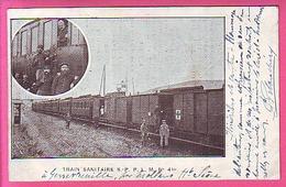 MLITARIA SANTE CROIX ROUGE SNCF CHANSON SUR LAIR PAIMPOLAISE TRAIN SANITAIRE S P P L M N° 4 BIS A GENEVREUILLE HT SAONE - War 1914-18