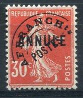 RC 15649 FRANCE PRÉO N° 58 CI1 - 30c SURCHARGÉ ANNULÉ COURS D'INSTRUCTION COTE 315€ NEUF * MH TB - Préoblitérés