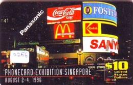 RARE * Telecarte SINGAPORE * COCA COLA * (2258) KODAK * McDONALD 'S Phonecard * TELEFONKARTE * - Publicité