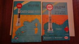 CARTES MARINE (2) Navigation Cotière N°1008 & 1007 CORSE Edit.Blondel 1966-68 - Maps/Atlas