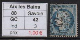 Aix Les Bains - Savoie - GC 42 - Marcophilie (Timbres Détachés)
