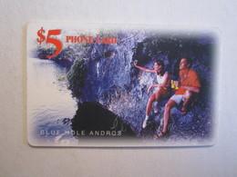 Télécartes Bahamas 5 Phone Card  Blue Hole Andras Batelco - Bahamas