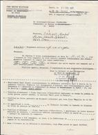 LETTRE   1ERE  REGION MILITAIRE     BUREAU DE PARIS - Dokumente