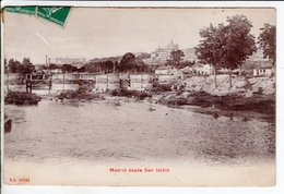 Cpa Madrid Desde San Isidro  1908 - Madrid