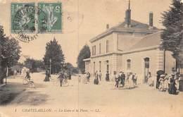20-2592 : CHATELAILLON. LA GARE ET LA PLACE. EDITION LL. - Châtelaillon-Plage