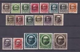 Bayern - 1919 - Michel Nr. 152/170 A - Gest. - 250 Euro - Bavière