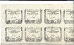 """ASSIGNAT  Planche De 20 Assignats Cinquante Sols  ( Loi 23 Mai 1793 - Sign. Saussay - Filigrane """" RF  50 S """" - Assignats & Mandats Territoriaux"""