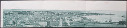Cartolina 3 Triplo - ITALIA - TRIESTE, Grande Panorama - 1904, Citta E Porto - Trieste