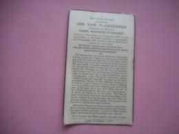 D.P.-ECHTGENOOT VAN MARIE MATHILDE STANDAERT  J.VAN VLAANDEREN °MERENDREE 15-8-1869+LOVENDEGEM 26-9-1942 - Religion &  Esoterik