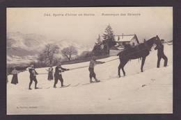 CPA Haute Savoie 74 Annecy Sport D'hiver Remorque Des Skieurs Non Circulé - Annecy