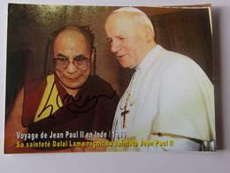 Sa Sainteté Dalaï Lama - Signé / Hand Signed / Dédicace Authentique / Autographe - Reçoit Jean Paul II - 1986 - Budismo