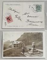 "Cartolina Illustrata Bolzano-Bressanone - 07/04/1919 Affrancata Con 5 Heller+10 Heller Segnatasse ""Venezia Tridentina"" - Storia Postale"