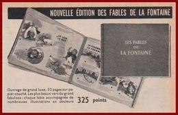 Grace Aux Chèques, Chèque, Tintin, Recevez Un Beau Cadeau, La Nouvelle édition Des Fables De La Fontaine. 1960. - Publicités